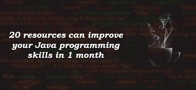 Top 20 Online Resources to Learn Java Programming Faster and better